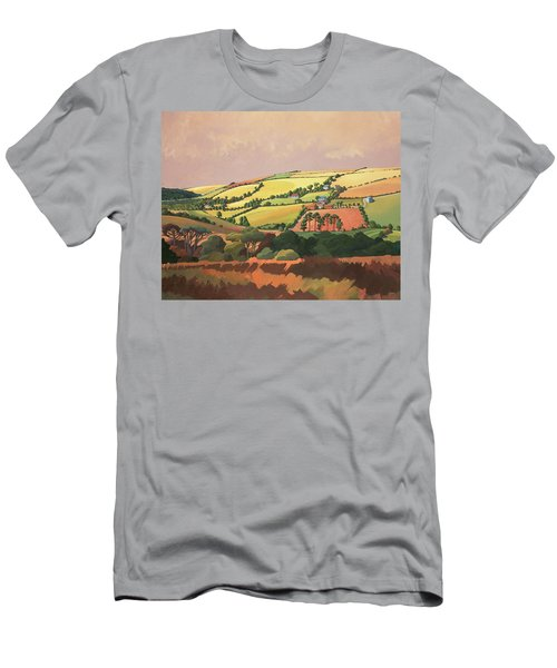 From The Train, South Devon, No.1 Oil On Canvas Men's T-Shirt (Athletic Fit)