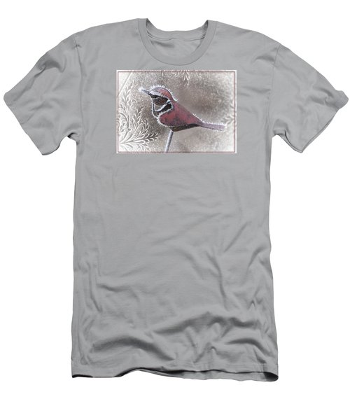 Men's T-Shirt (Slim Fit) featuring the photograph Frosty Cardinal by Patti Deters