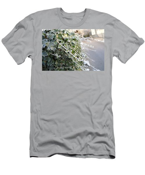 Men's T-Shirt (Slim Fit) featuring the painting Frozen Hedera Helix by Felicia Tica