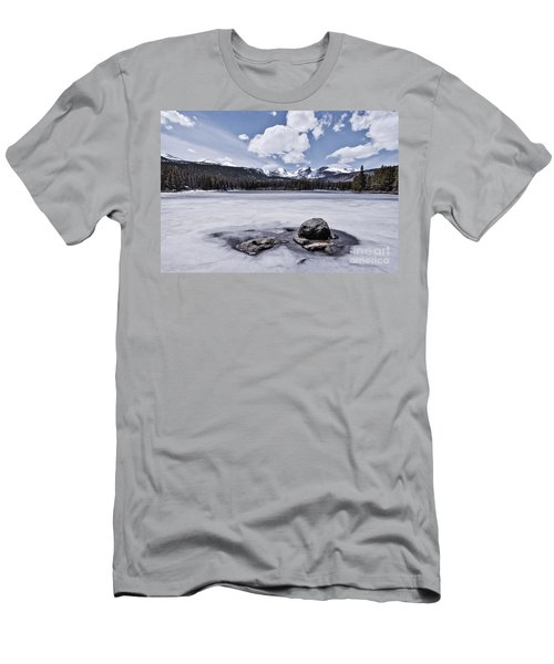 Men's T-Shirt (Athletic Fit) featuring the photograph Frozen Lake by Mae Wertz