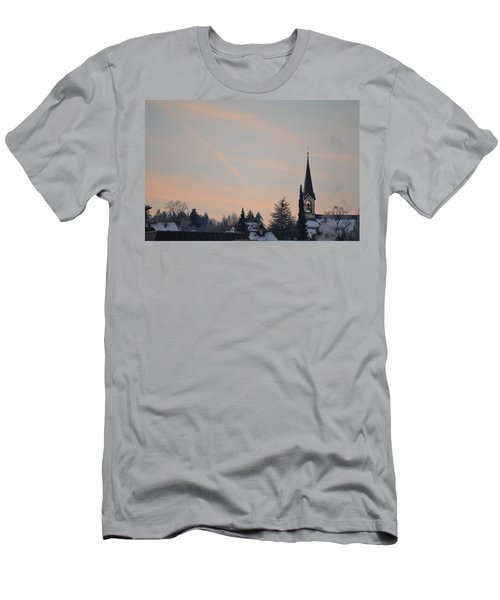 Men's T-Shirt (Slim Fit) featuring the photograph Frozen Sky 2 by Felicia Tica