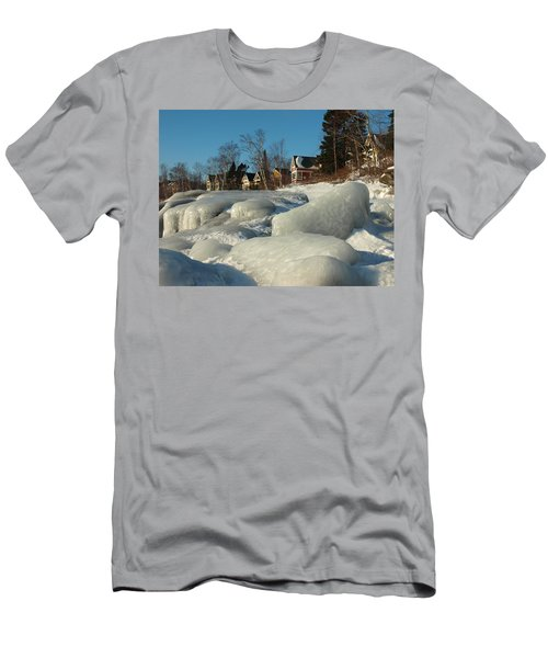 Men's T-Shirt (Slim Fit) featuring the photograph Frozen Surf by James Peterson