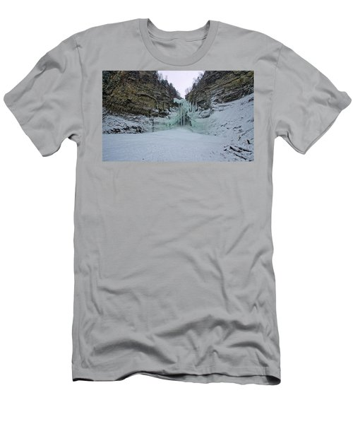 Frozen Waterfalls Men's T-Shirt (Athletic Fit)