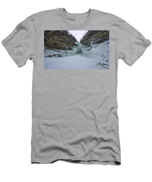 Frozen Waterfalls Men's T-Shirt (Athletic Fit)