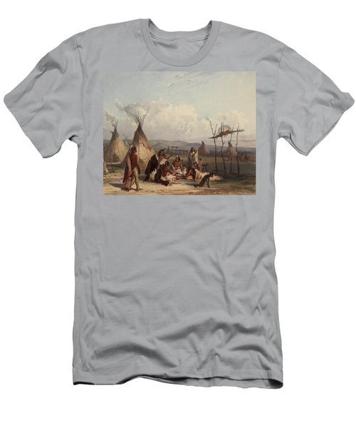 Funeral Scaffold Of A Sioux Chief Men's T-Shirt (Athletic Fit)
