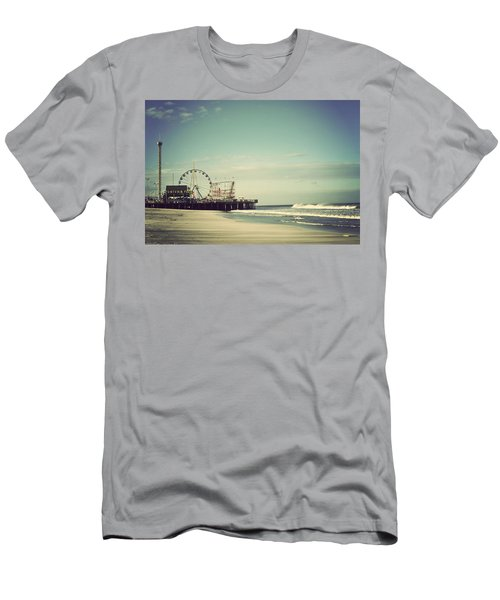 Funtown Pier Seaside Heights New Jersey Vintage Men's T-Shirt (Slim Fit) by Terry DeLuco