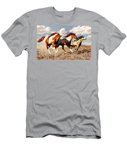 Galloping Mustangs Men's T-Shirt (Athletic Fit)