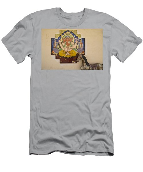 Ganesh The Elephant God Men's T-Shirt (Athletic Fit)