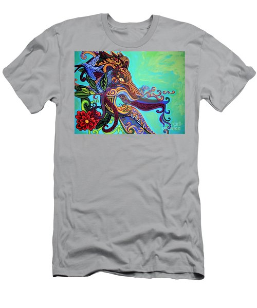 Gargoyle Lion 3 Men's T-Shirt (Slim Fit) by Genevieve Esson