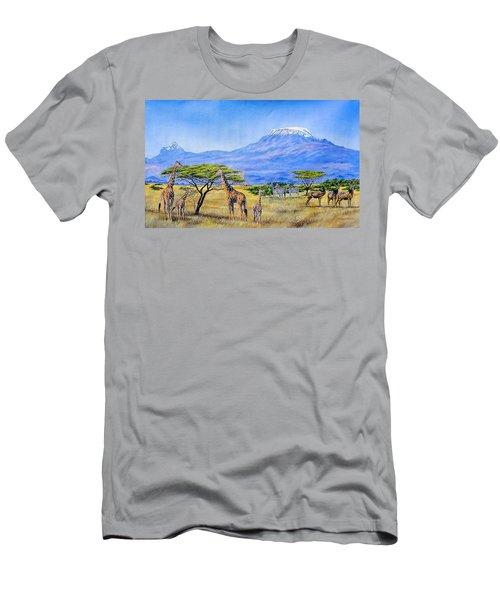 Gathering At Mount Kilimanjaro Men's T-Shirt (Athletic Fit)