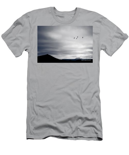 Geese Flying South For Winter Men's T-Shirt (Athletic Fit)