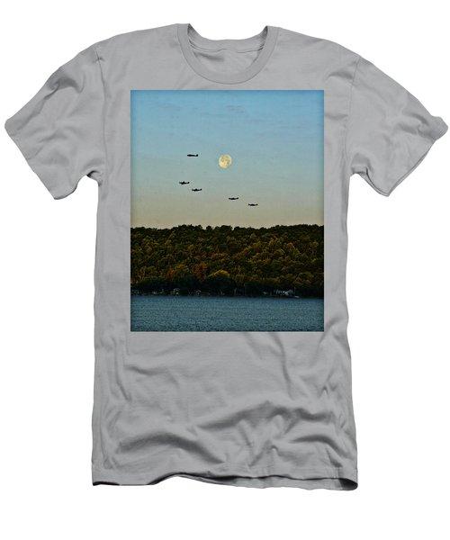 Geneseo Air Show Men's T-Shirt (Slim Fit) by Richard Engelbrecht