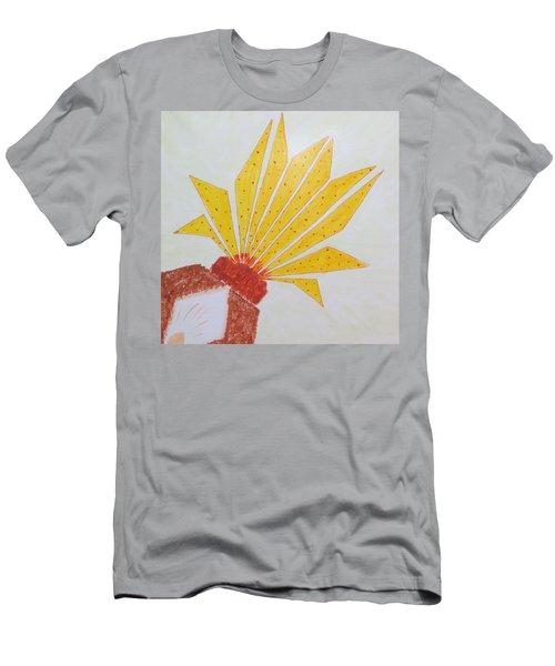 Geometric Blooming Lotus Men's T-Shirt (Athletic Fit)