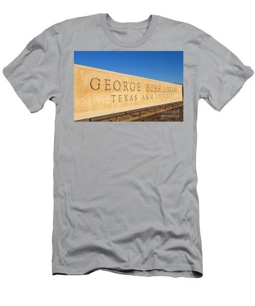 George H. Bush Library, Texas Men's T-Shirt (Athletic Fit)