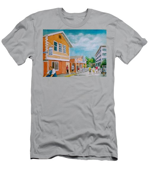 Georgetown Grand Cayman Men's T-Shirt (Slim Fit) by Frank Hunter