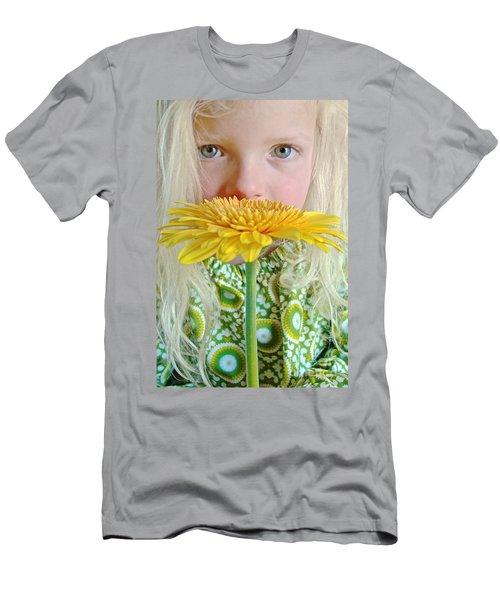 Gerbera Girl Men's T-Shirt (Athletic Fit)