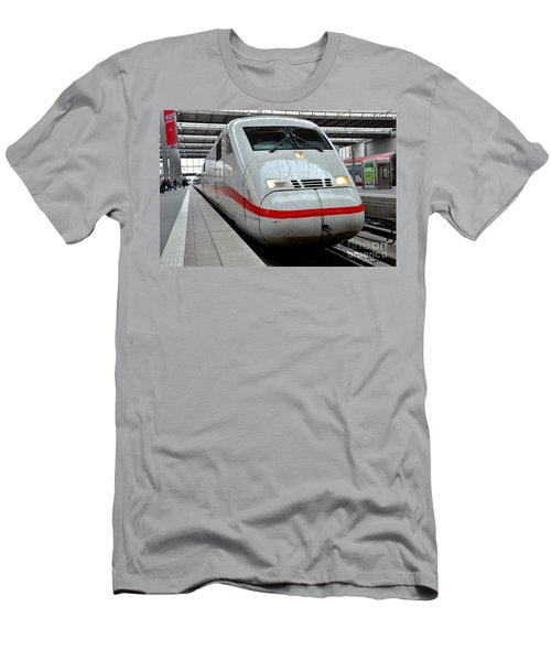 German Ice Intercity Bullet Train Munich Germany Men's T-Shirt (Athletic Fit)