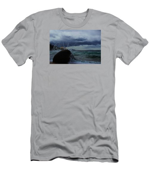 Men's T-Shirt (Athletic Fit) featuring the photograph Get Splashed by Sean Sarsfield