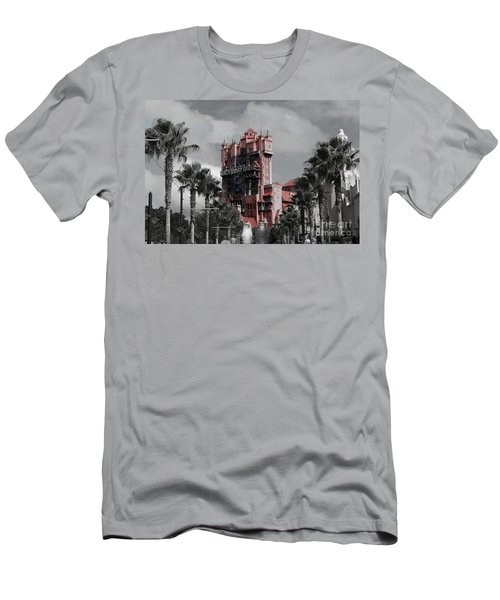Ghostly At The Tower Men's T-Shirt (Athletic Fit)