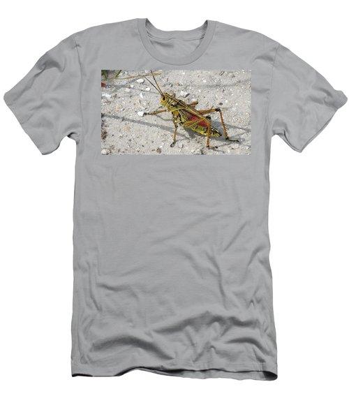 Men's T-Shirt (Slim Fit) featuring the photograph Giant Orange Grasshopper by Ron Davidson