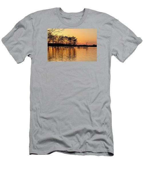Gilded Sunset Men's T-Shirt (Slim Fit) by Julie Andel