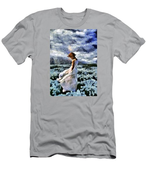 Girl In A Cotton Field Men's T-Shirt (Athletic Fit)