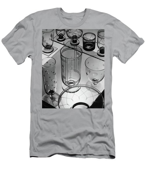 Glasses And Crystal Vases By Walter D Teague Men's T-Shirt (Athletic Fit)