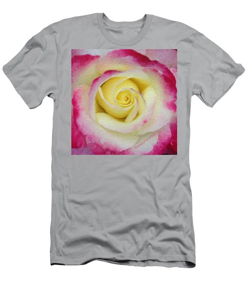 Glazed Red-tipped Rose Men's T-Shirt (Athletic Fit)