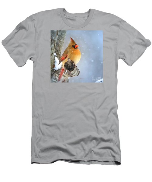 Glowing In The Snow Men's T-Shirt (Slim Fit) by Nava Thompson