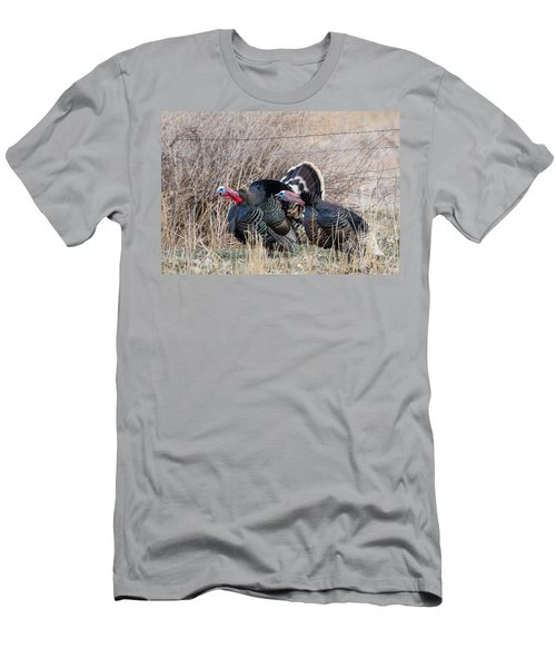 Gobbling Turkeys Men's T-Shirt (Athletic Fit)