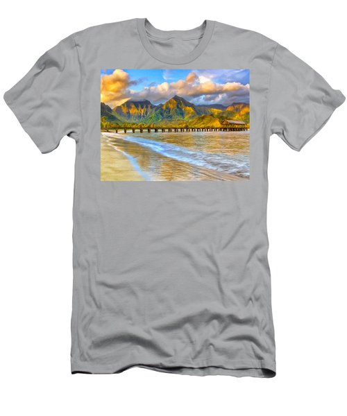 Golden Hanalei Morning Men's T-Shirt (Athletic Fit)