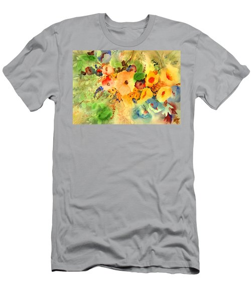 Golden Hibiscus Men's T-Shirt (Athletic Fit)
