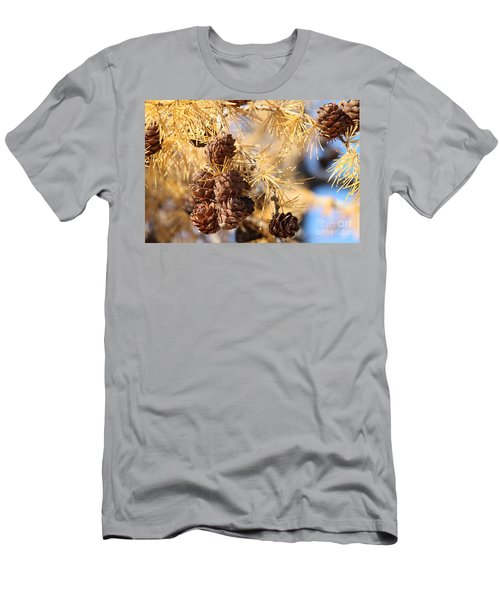 Men's T-Shirt (Athletic Fit) featuring the photograph Golden Needles by Ann E Robson