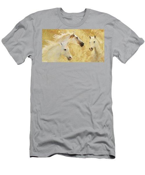Golden Steeds Men's T-Shirt (Slim Fit) by Melinda Hughes-Berland