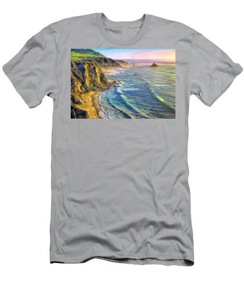 Golden Sunset At Big Sur Men's T-Shirt (Athletic Fit)