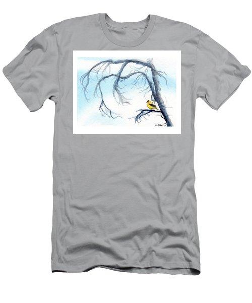 Goldfinch In Tree Men's T-Shirt (Slim Fit) by C Sitton
