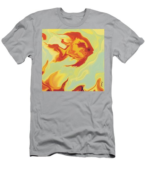 Men's T-Shirt (Slim Fit) featuring the digital art Goldfish 1 by Rabi Khan