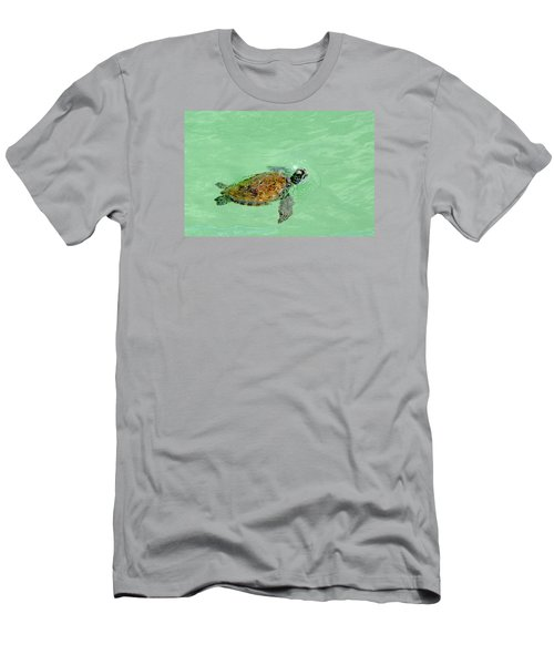 Men's T-Shirt (Slim Fit) featuring the photograph Good Day For A Swim  by Susan  McMenamin