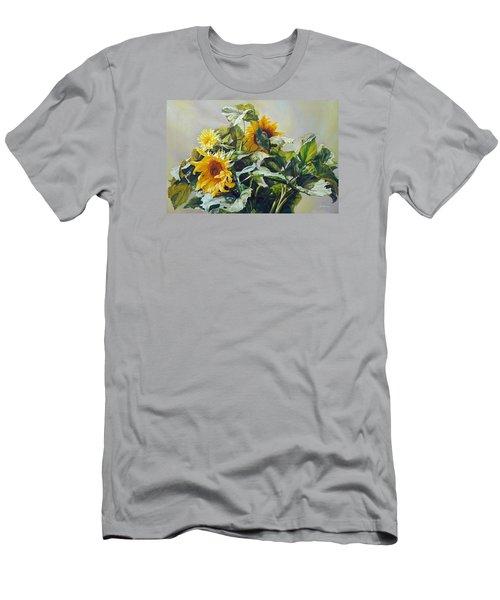 Good Morning - Sunflower In Love Men's T-Shirt (Athletic Fit)