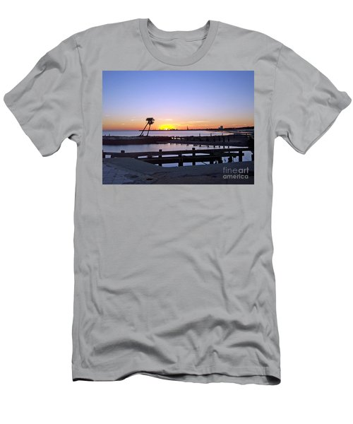 Men's T-Shirt (Slim Fit) featuring the photograph Goodbye Sun by Roberta Byram