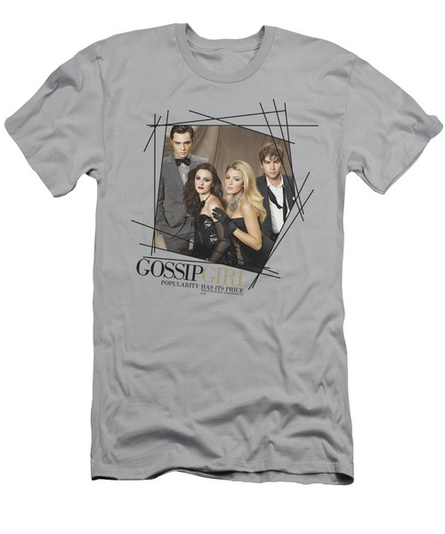 Gossip Girl - Line Border Men's T-Shirt (Athletic Fit)