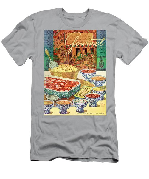 Gourmet Cover Featuring Various Indian Dishes Men's T-Shirt (Athletic Fit)