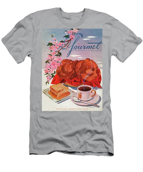 Gourmet Cover Illustration Of A Basket Of Popovers Men's T-Shirt (Athletic Fit)