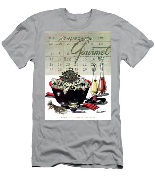 Gourmet Cover Illustration Of A Bowl Of Salad Men's T-Shirt (Athletic Fit)