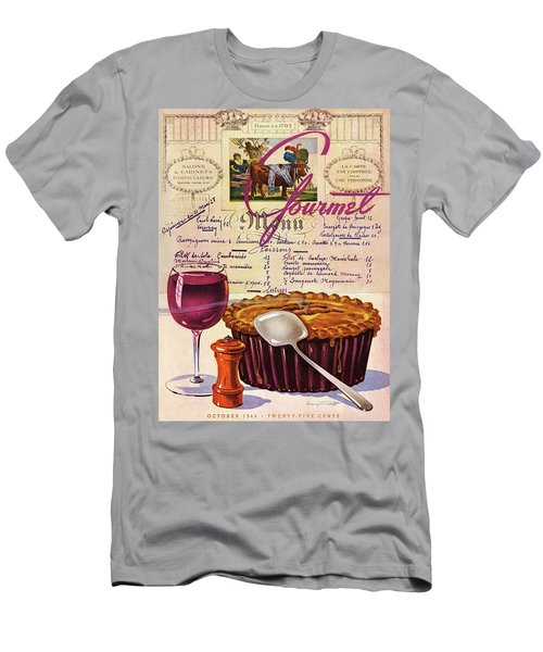 Gourmet Cover Illustration Of Deep Dish Pie Men's T-Shirt (Athletic Fit)