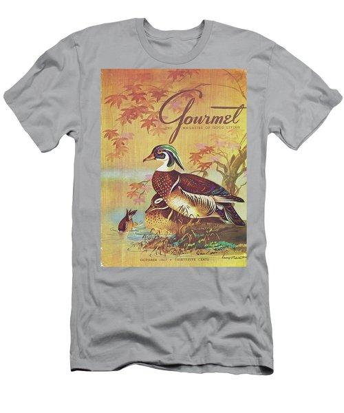 Gourmet Cover Of Wood Ducks Men's T-Shirt (Athletic Fit)