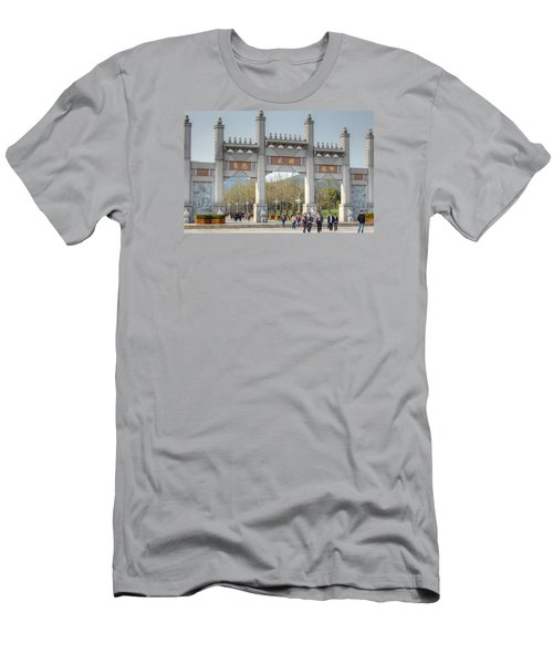 Grand Buddha Gates Men's T-Shirt (Athletic Fit)