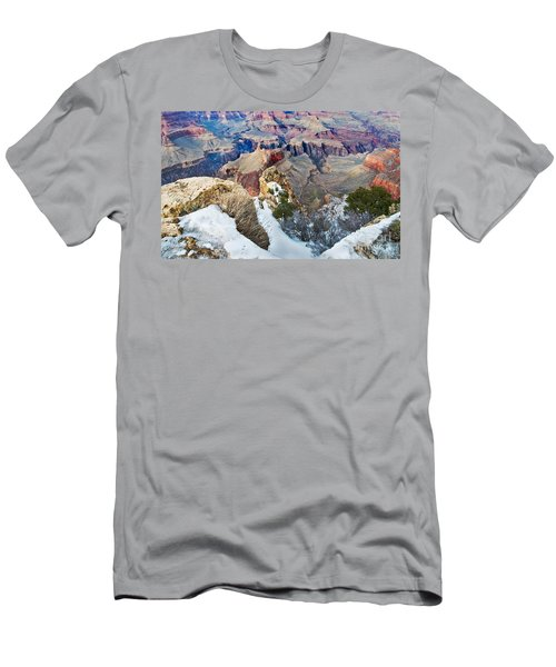 Men's T-Shirt (Athletic Fit) featuring the photograph Grand Canyon In February by Mae Wertz