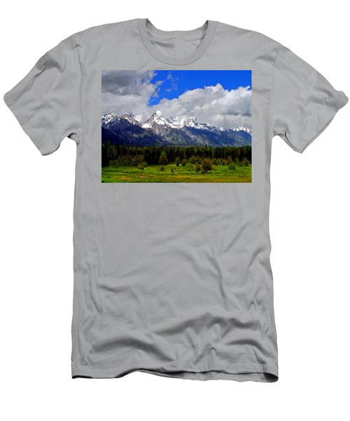Grand Teton Mountains Men's T-Shirt (Athletic Fit)