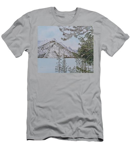 Grand Teton View Men's T-Shirt (Athletic Fit)